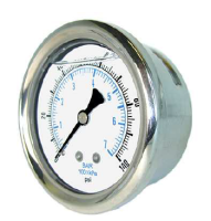 Liquid Filled Back Mount Gauges