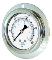 Liquid Filled Flange Mount Gauges