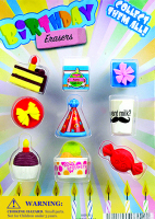 Birthday Party Erasers