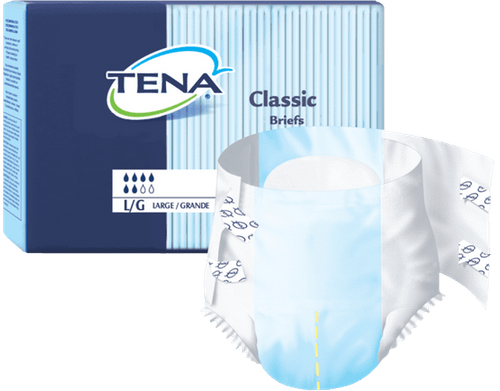 Classic Disposable Brief W/Tab Closure Pack of 25-M-White
