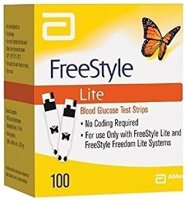 Freestyle Lite Blood Glucose Test Strips 100ct