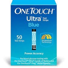 OneTouch Ultra Blue Blood Glucose Test Strips 50ct