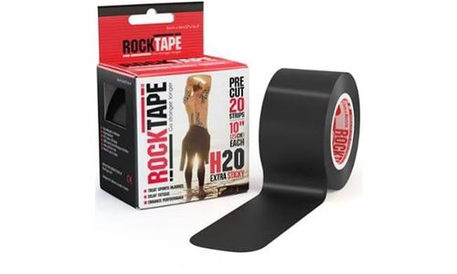 "Rocktape H20 Pre-Cut 2"" - 20 Strip Roll - Black"