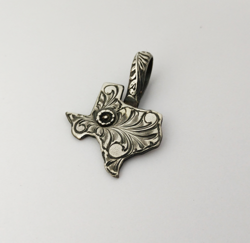 Sterling Silver Texas Pendant 1