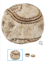 Rustic baseball keepsake