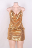 Sequins&Rhinestones Sling Sexy Party Wear-S-Sku.029407/Pink,Gold