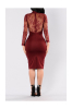 Best Selling Add New Color: Lace See Through Sexy elegant Mini Dress-M-Sku.029544A,Red