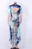 Women's Cut Hollow Maxi Cover Dress-S-Sku-029917/GH,Multicolor