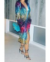 Sequined Maxi Coat