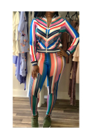 Anne recommend: Multicolor Zipper Front Stylish Outfit