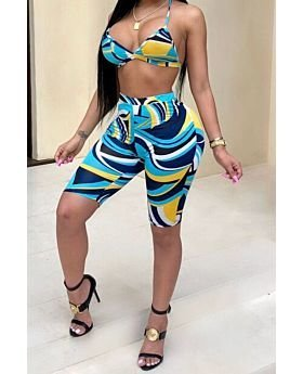 S-XXL Plus Size Mixed Color Sexy 3-Piece Set-XXL-SKU-042108,Print