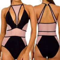 Mesh See Through One Piece Swimwear