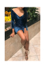 Anne recommend: Blue V-Neck Long-Sleeves Velvet Tight Sexy Dress-S-Sku-A20825/bc,Black