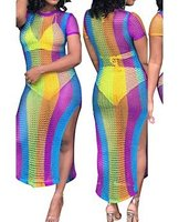 Rainbow vertical dress