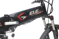 Electric Folding Mountain Bike - Model EB13-2-Black/Red/Silver