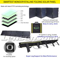 LenSun Foldable Solar Panels 200 Watt - MC4