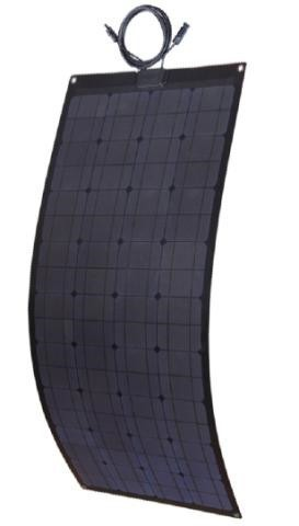 100W Black Frame Flexible Solar Panels-100 Watt-LenSun,LS-100WFX1