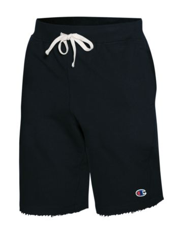 Champion Big Mens French Terry Shorts-Black-6X