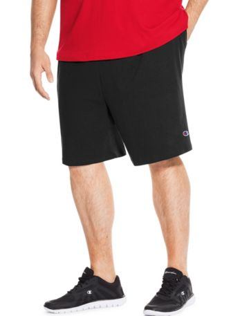 Champion Big Mens Jersey Short-Black-3X