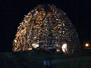 Sculpture at night