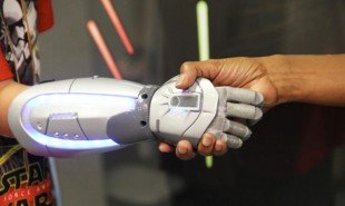 Superhero-themed bionic hands for young amputees