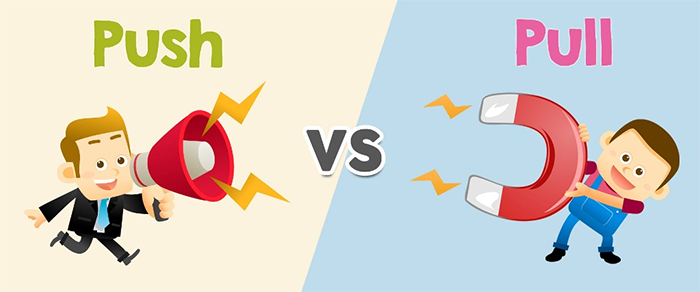 Push vs. pull sales enablement and sales execution