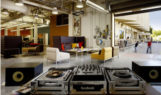 Facebook's headquarters today sit in Menlo Park, California where the layout is casual and inspiring.