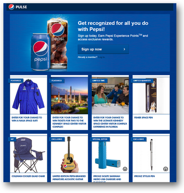 Pepsi knows how to attract customers with custom-made rewards that hold real value.
