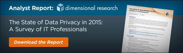 The State of Data Privacy in 2015: A Survey of IT Professionals, data privacy, enterprise data privacy, data privacy study, data privacy survey, IT data privacy, corporate data privacy, business data privacy, customer data privacy