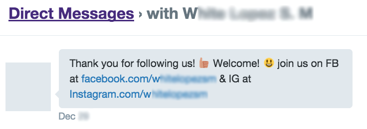 Does your candidate send Twitter DMs like this one?