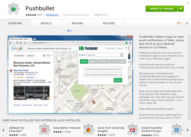 Pushbullet plugin for marketers