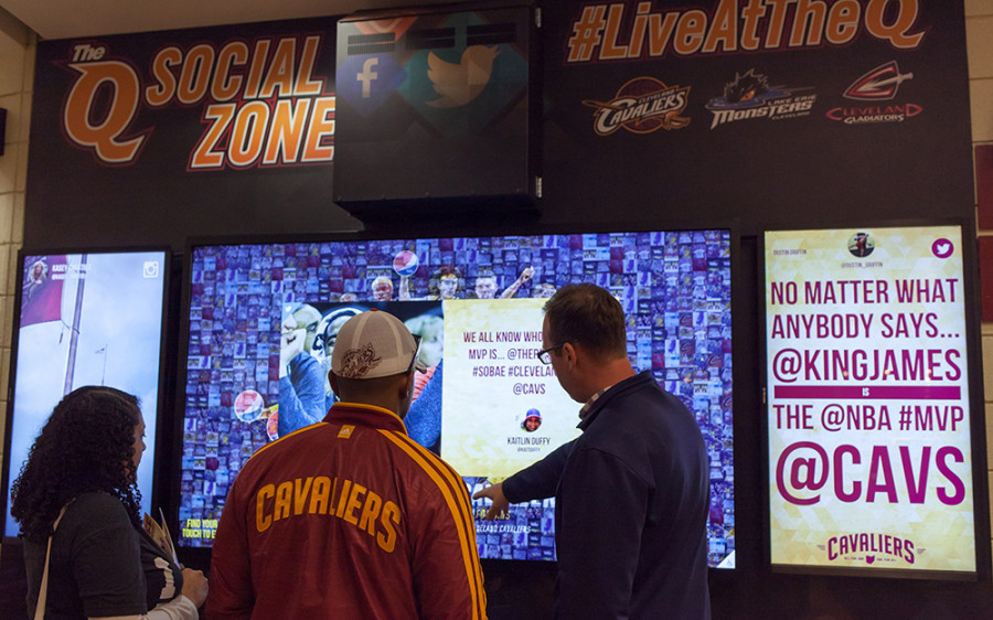 Cleveland Cavaliers Social Media Wall