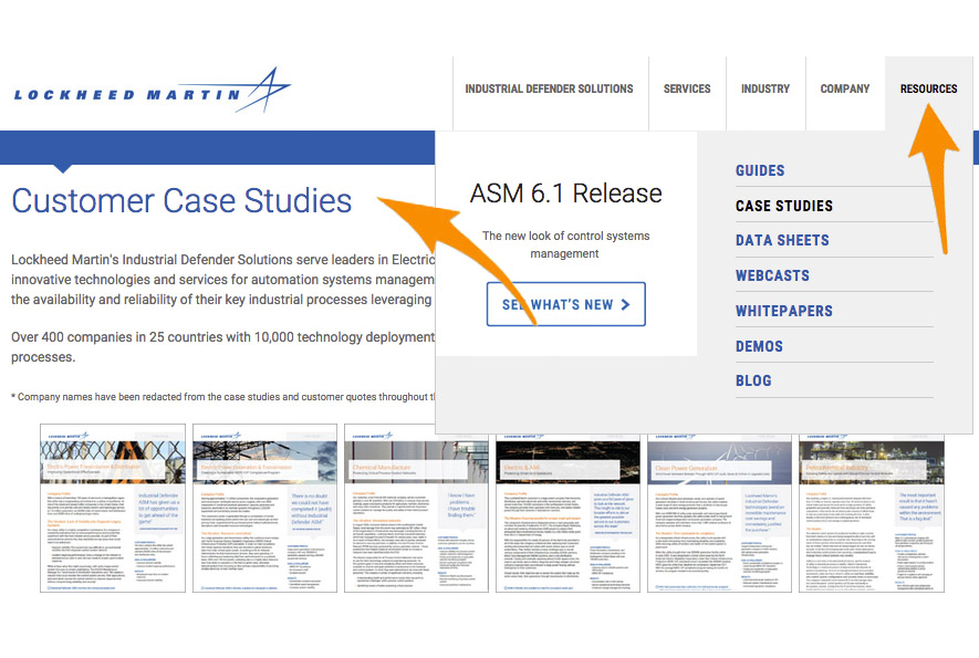 3 Lockheed Martin Case Studies Screenshot