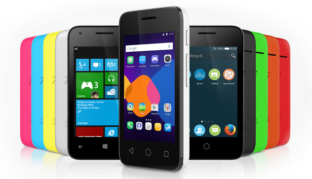 Windows, Android or Firefox OS can be run on Alcatels New Pixi Smartphone image Alcatel OneTouch PIXI 3