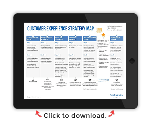 Download the Customer Experience Transformations Strategy Map