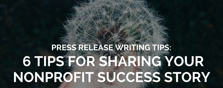 nonprofit press release writing tips