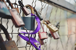A padlock on a fence represents a quality link.