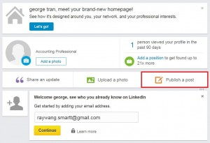 LinkedIn - Publish a Post - 1