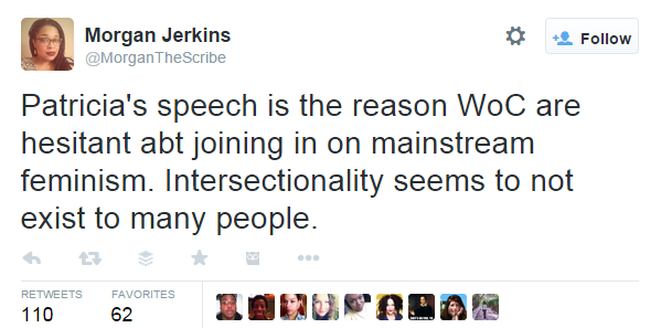 Feminists react to Patricia Arquette