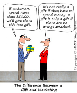 Customer Gift or Marketing