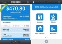 The Freshbook Mobile App lets business owners manage finances on the go so you're not scrambling later.