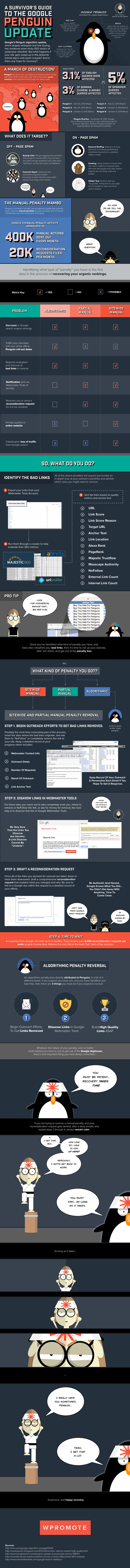 A Survivor's Guide To The Google Penguin Update [Infographic]
