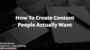 content people actually want