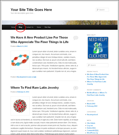 How To Create A Blog Page To Display Your Latest Blog Post Entries In WordPress