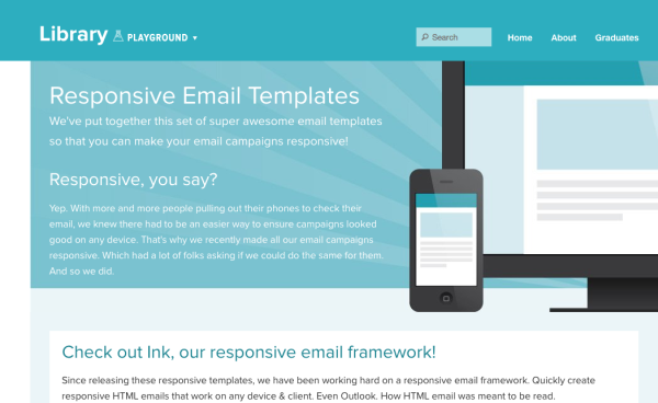 responsive stylesheet template - 5 free and responsive email templates