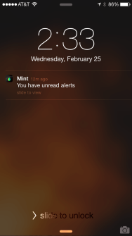Push notification from Mint