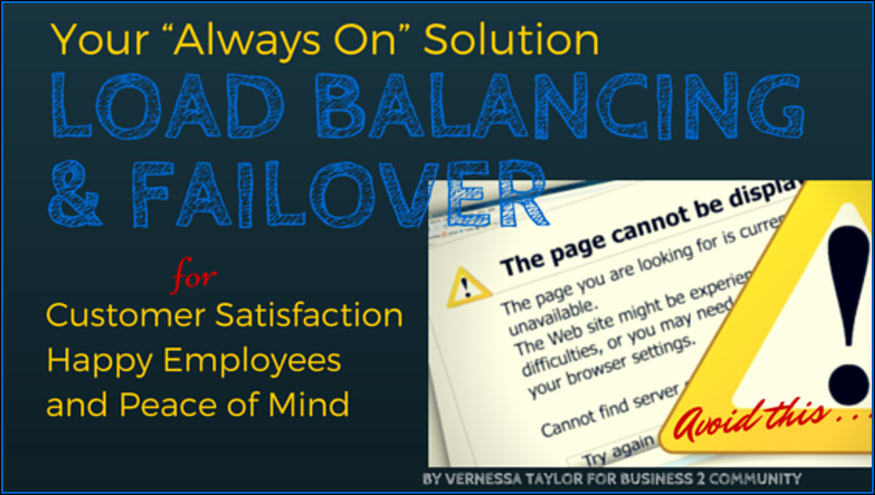 "Load Balancing & Failover: Your ""Always On"" Solution to Customer Delight and Employee Happiness"