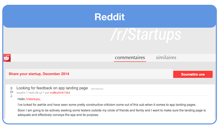 Ask For Landing Page Feedback On Reddit