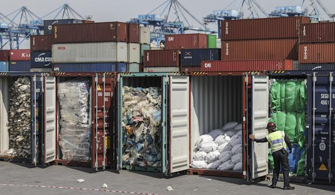 Malaysia has returned nine containers of plastic waste to Hong Kong so far. Photo: EPA-EFE