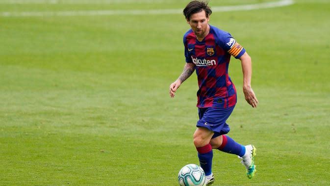 Presiden Barcelona, Josep Maria Bartomeu, yakin Lionel Messi bakal pensiun di Camp Nou. (AFP/STR)
